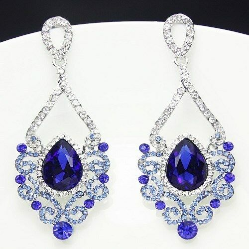 Innovative  Silver Plated Crystal Rhinestone Necklace Earrings Jewelry Sets  EBay
