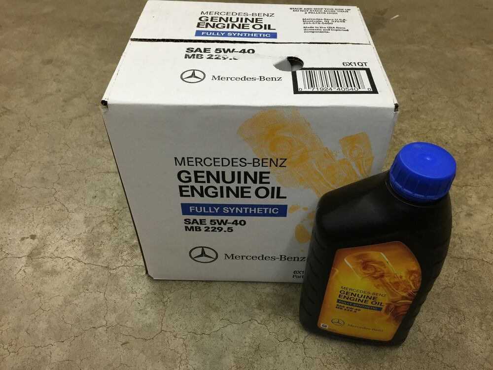 Genuine oem mercedes benz 5w40 229 5 fully synthetic motor for Mercedes benz synthetic oil