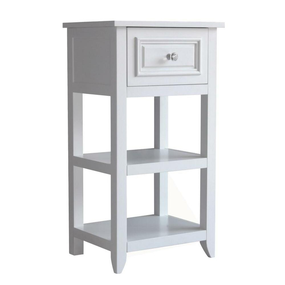 Dawson white bathroom floor cabinet with one drawer and for Bathroom floor cabinet