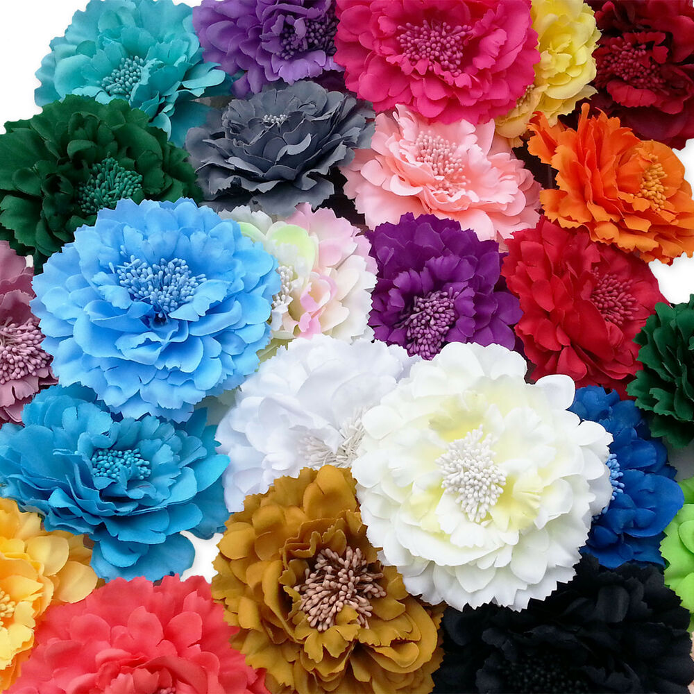Large Flower Peony Hair Clips Grips. Wedding Bridal