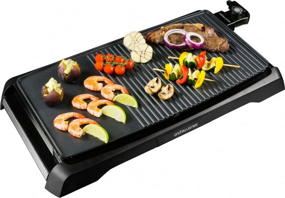 andrew james electric teppanyaki grill table top bbq griddle skillet plancha ebay. Black Bedroom Furniture Sets. Home Design Ideas
