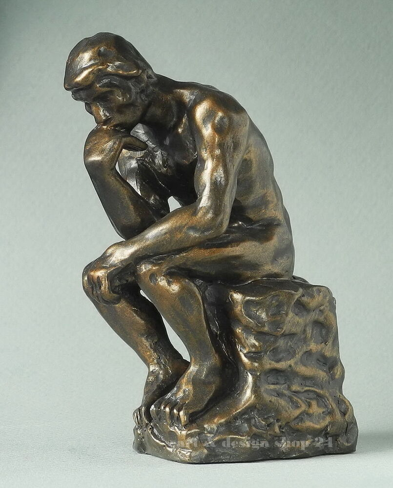 auguste rodin figur der denker le penseur skulptur in geschenkarton ebay. Black Bedroom Furniture Sets. Home Design Ideas