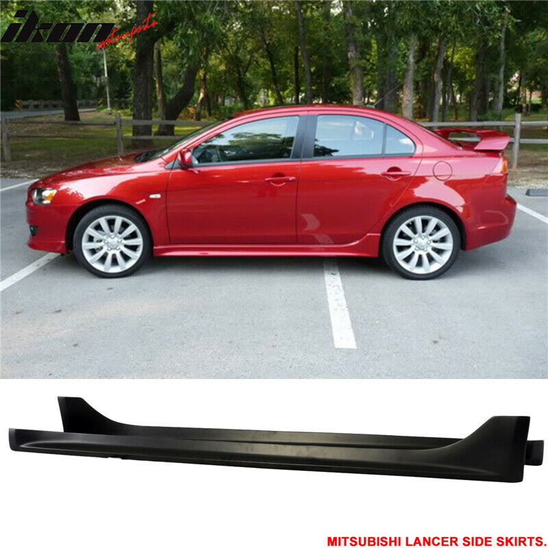 08 15 mitsubishi lancer side skirt spoiler splitter ebay. Black Bedroom Furniture Sets. Home Design Ideas