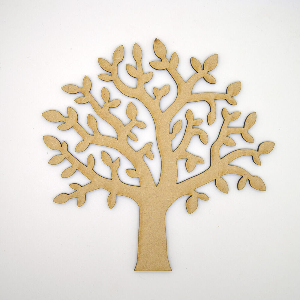 Mdf Tree Shape Craft Blank Make Your Own Wooden Family
