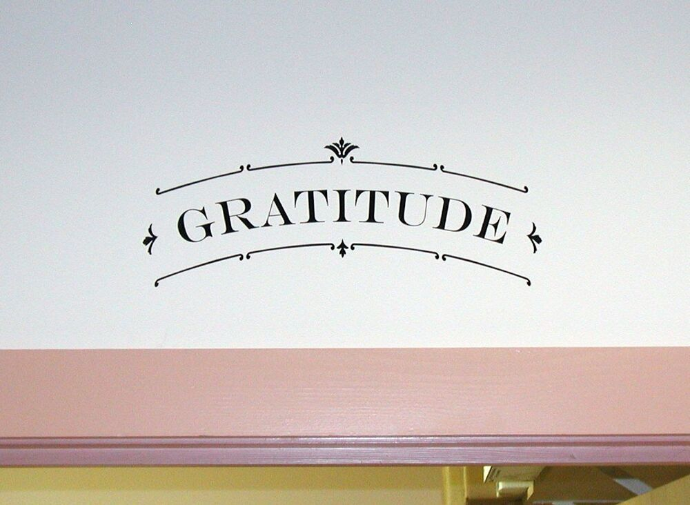 Gratitude Scroll Wall Art Decal Quote Words Lettering Decor Sticker Ebay