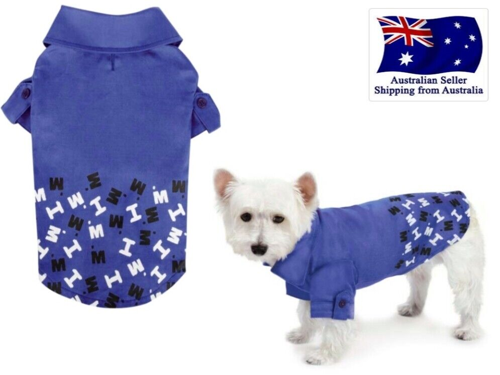 Dog polo t shirt blue xs s m puppy clothes clothing - Dog clothes for chihuahuas ...