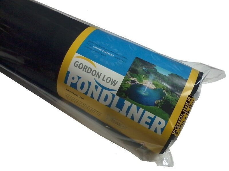 Greenseal epdm rubber pond liner for small pond 15 yr for Small pond inserts