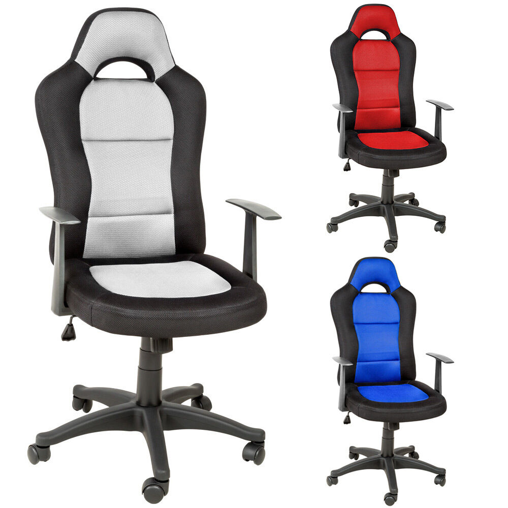 office chair racing car seat luxus computer executive reclining ebay. Black Bedroom Furniture Sets. Home Design Ideas