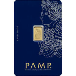 Kyпить 1 gram Gold Bar - PAMP Suisse - Fortuna - 999.9 Fine in Sealed Assay на еВаy.соm