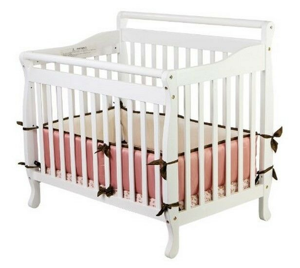 convertible baby bed 3 in 1 mini toddler crib white portable nursery kids new ebay. Black Bedroom Furniture Sets. Home Design Ideas