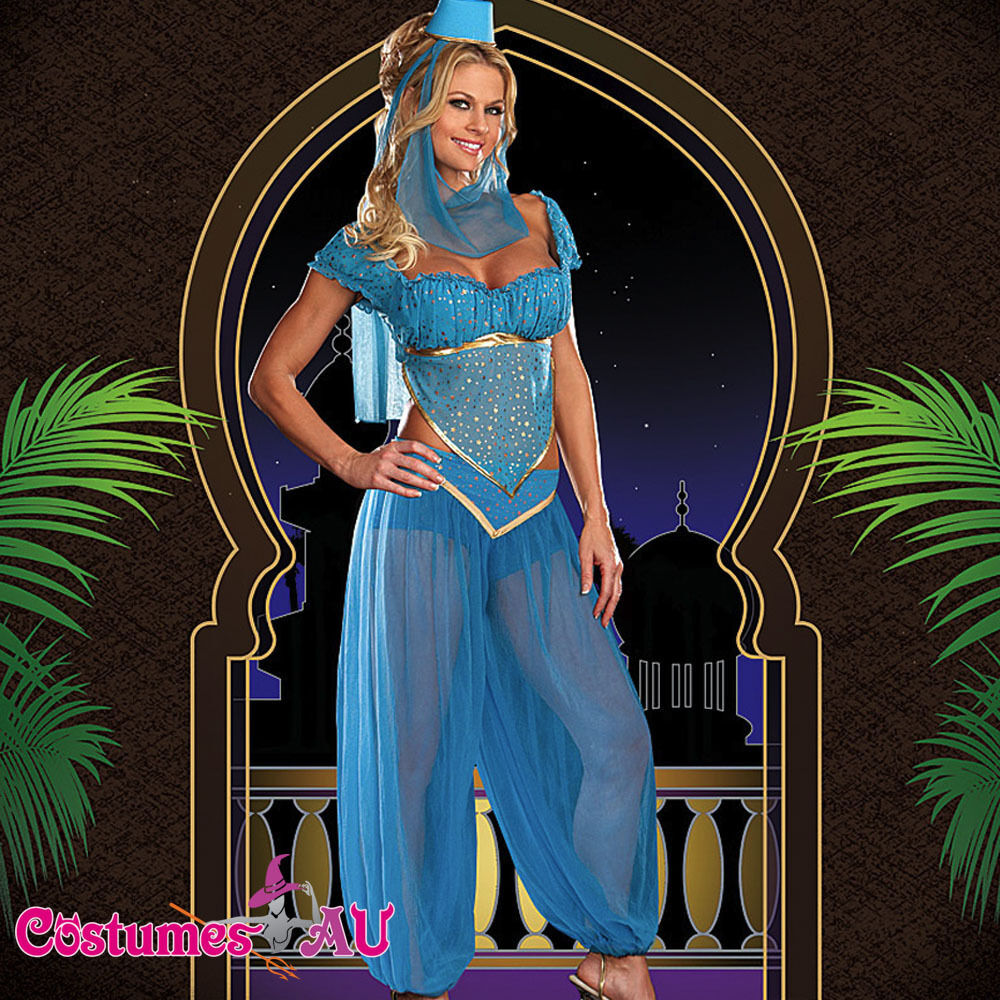 Ladies Arabian Genie Aladdin Fancy Dress Up Hens Party
