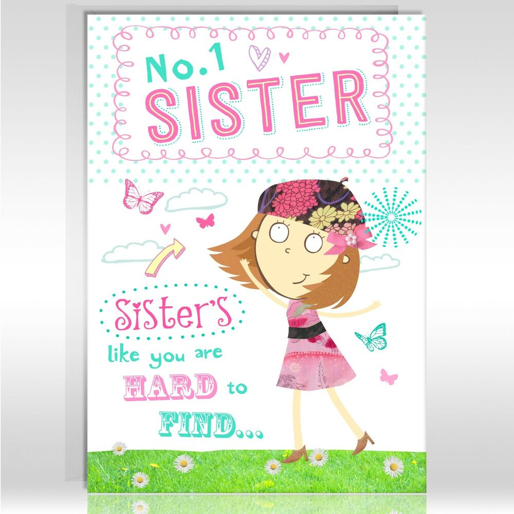 Sister birthday greetings card funny humour joke shopping otc5032