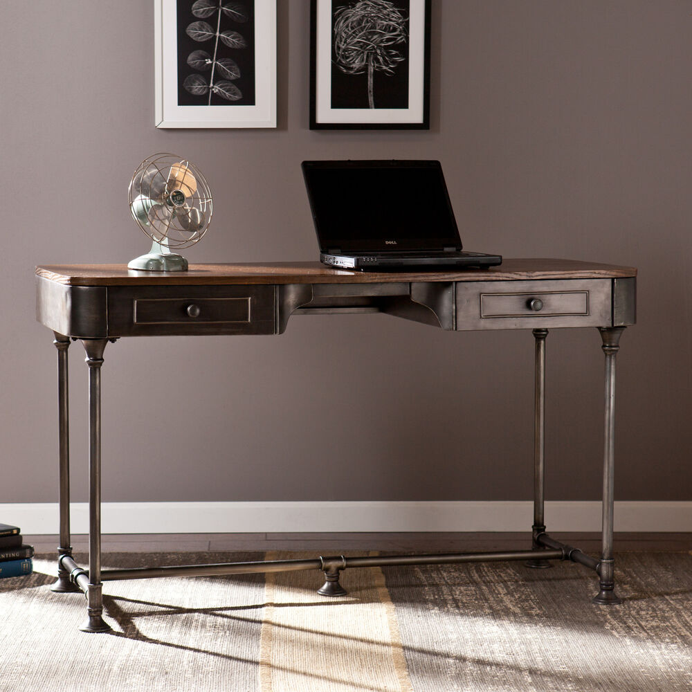 Edison Industrial Metal Computer Writing Desk Home Office Sei Furniture Ho9052 Ebay