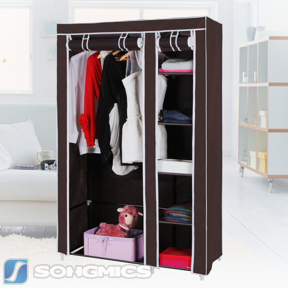Songmics 43 Portable Clothes Closet Wardrobe Storage