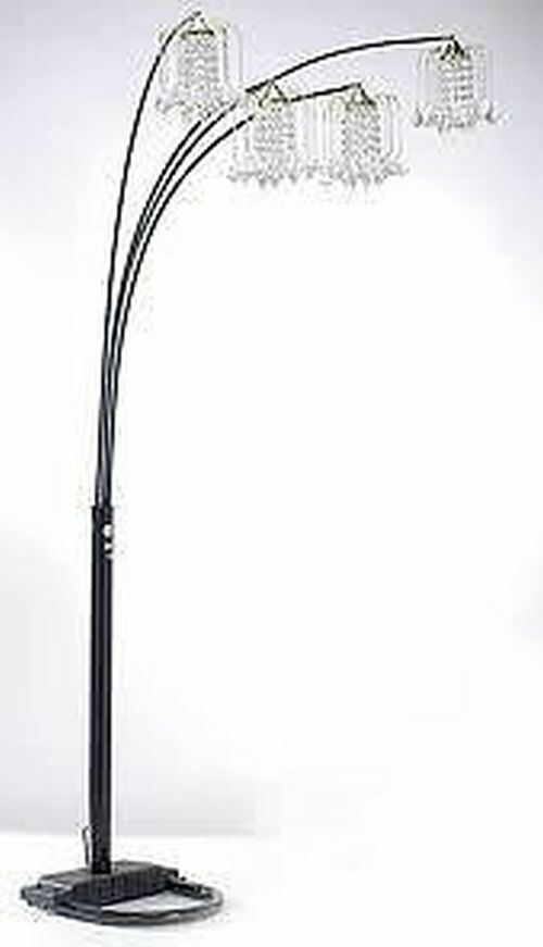 "Spider Arc 84"" Crystal Sectional Floor Lamp Gold Black ..."