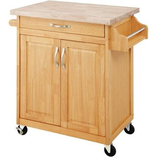 Modern Kitchen Island Storage Cart Cabinet Countertop