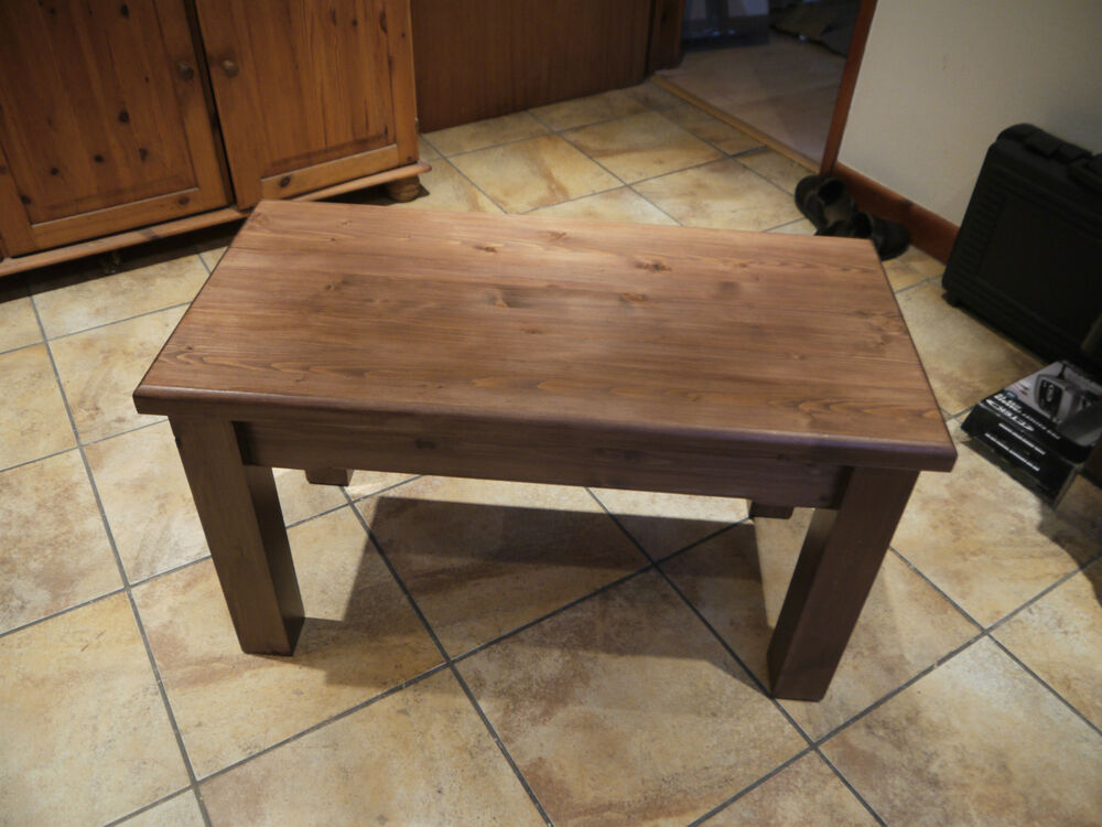 Solid handmade wooden coffee table side table end table for Unique end tables and coffee tables
