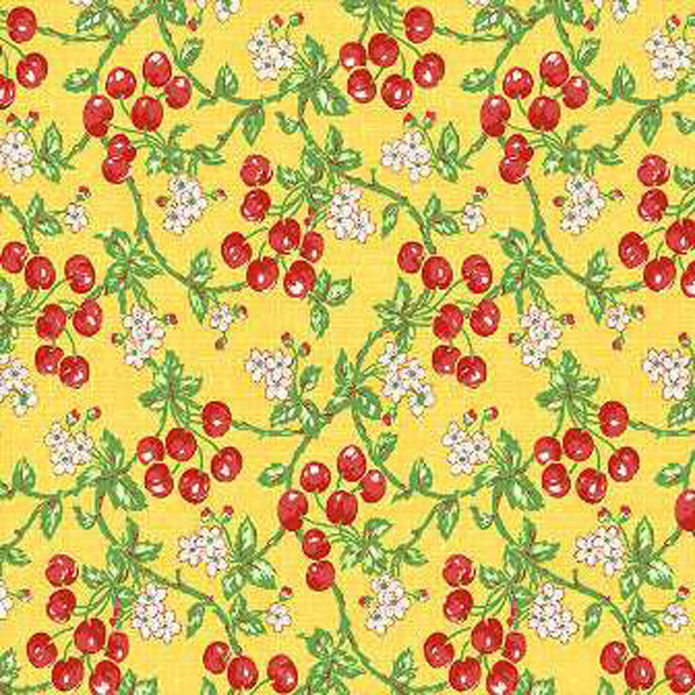 New fruit salad cherries 100 cotton 44 wide designer for By the yard fabric
