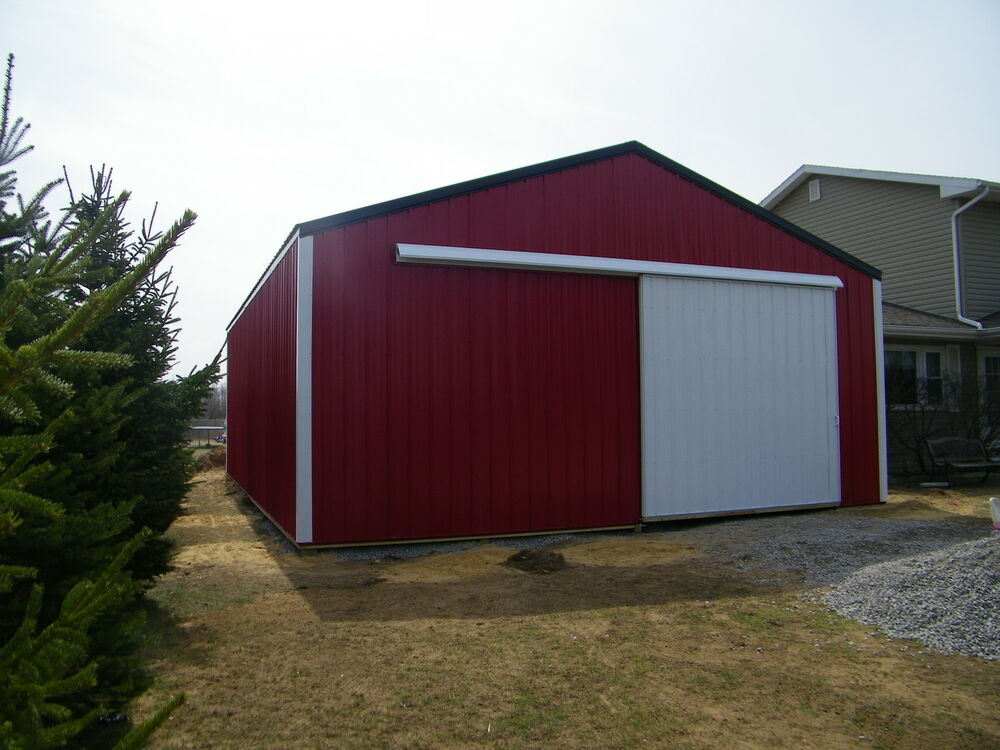 Pole barn package 30x40x10 kit garage post frame plans for Garage building packages