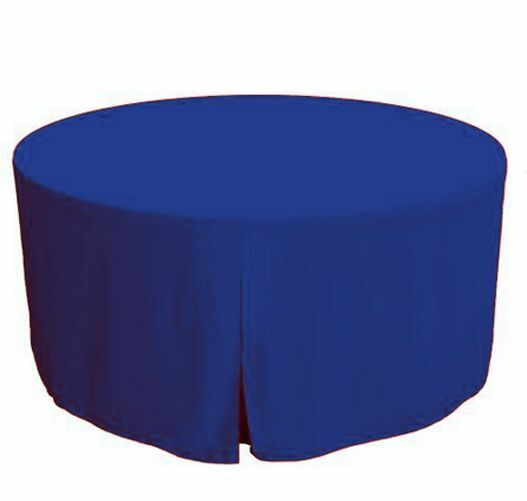60 Inch round Polyester Table Cover Tablecloth Trade show ...