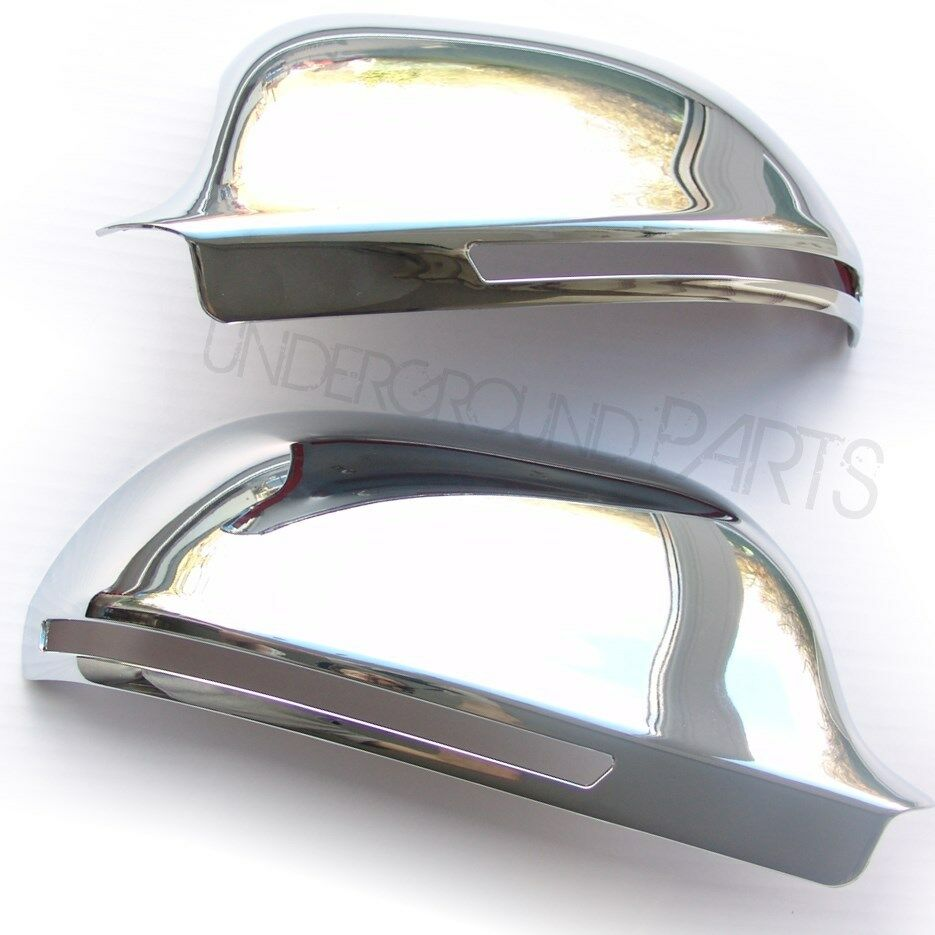 chrome door wing mirror covers cases cups caps audi a3 a4. Black Bedroom Furniture Sets. Home Design Ideas