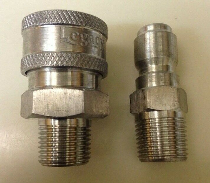 Pressure washer stainless quick coupler w plug