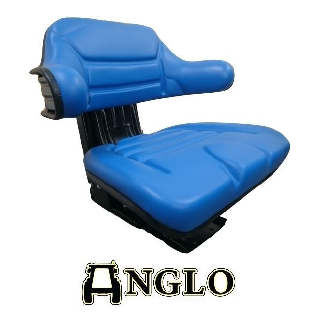 Ford New Holland 4330v Seat : Ford tractor suspension seat blue