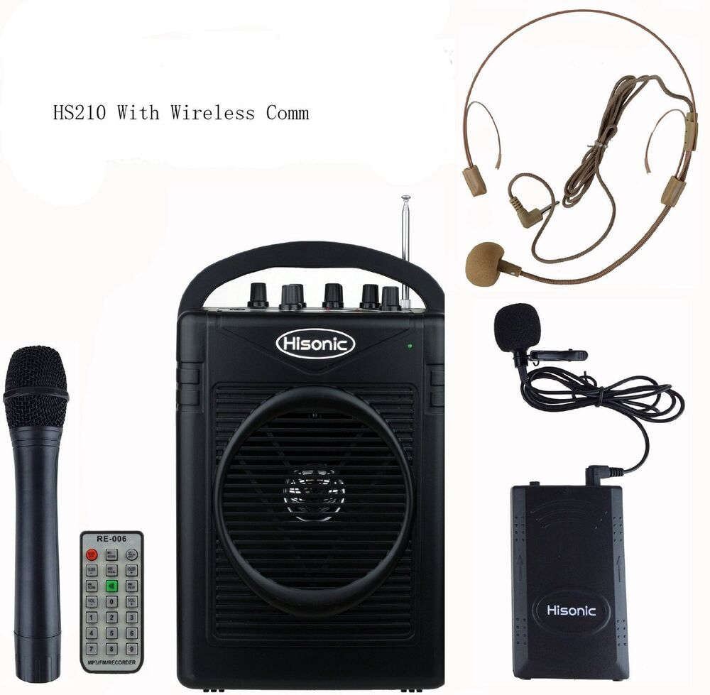 hisonic hs210 rechargeable portable pa system with wireless microphone ebay. Black Bedroom Furniture Sets. Home Design Ideas