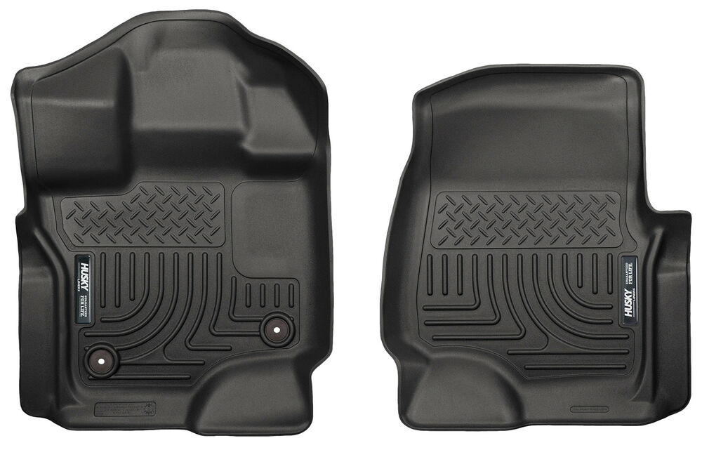Husky Weatherbeater Front Floor Mats For 15 19 Ford F150 F