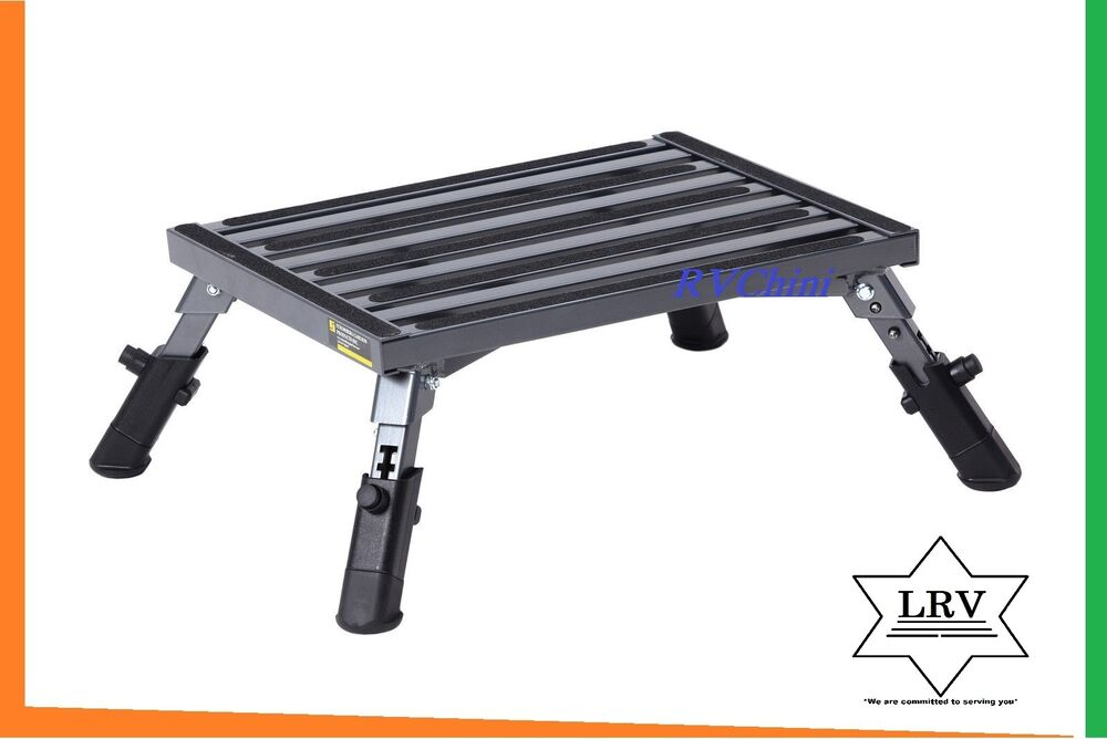 Rv Step Stool Platform W Adjustable Height Aluminum