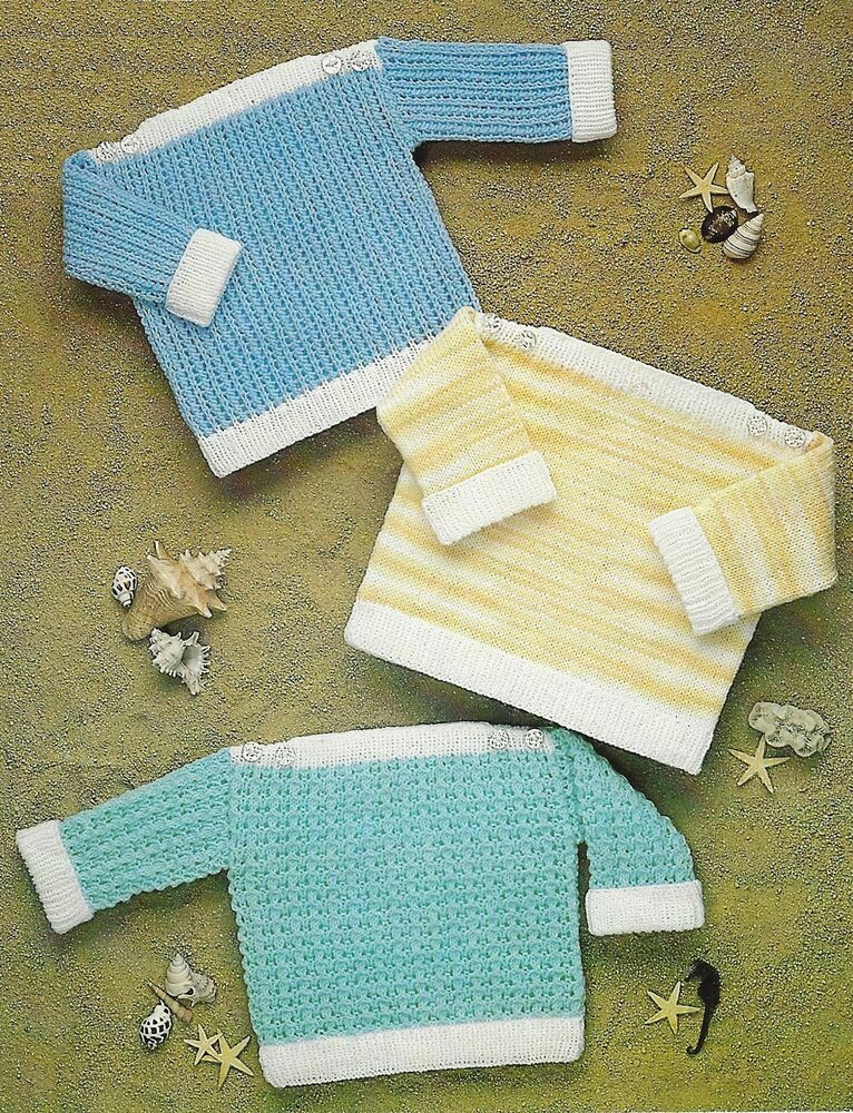 Baby Girls Boys Knitting Pattern Sweaters 18-24