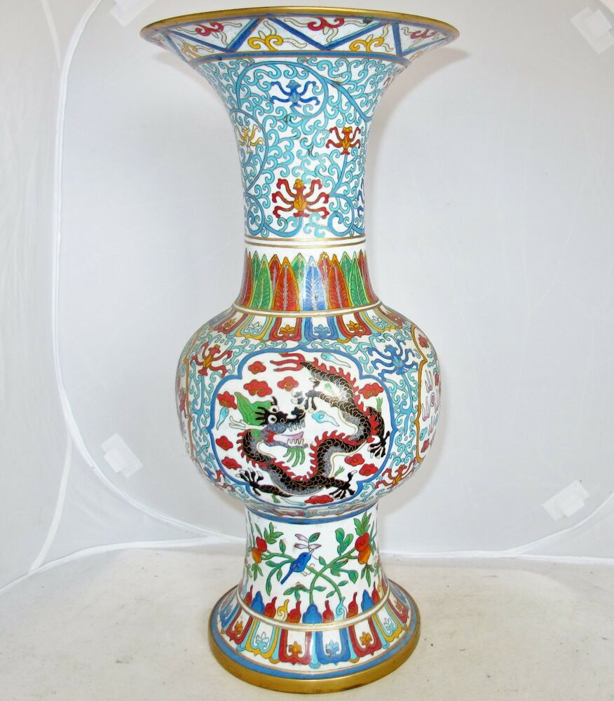 16 1 Quot Big Antique Or Vintage Chinese White Cloisonne