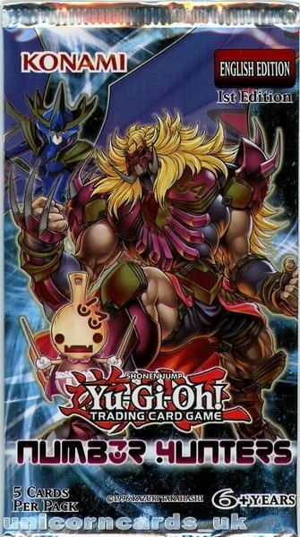 YuGiOh! Number Hunters UNL Edition New and Sealed YuGiOh Booster Pack