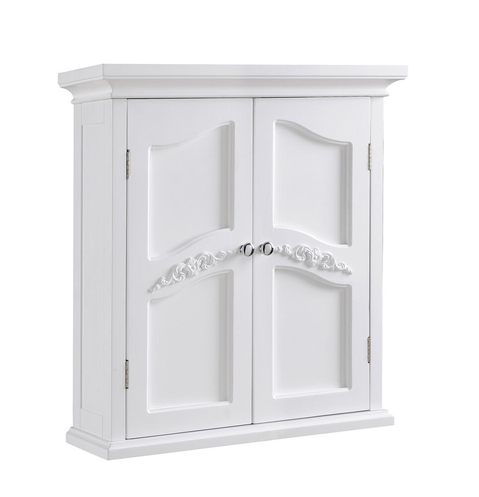 Versailles wall cabinet w 2 doors for bathroom kitchen for Bathroom cabinet doors