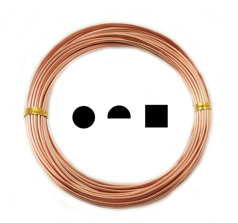 Pure Copper Wire Round Half Round Square 12 14 16 18 19