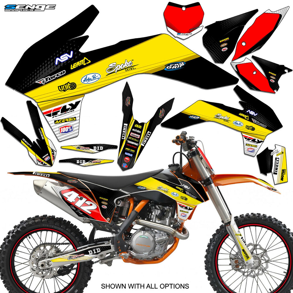 2013 2014 ktm sx 85 sx85 sx 105 sx105 graphics kit deco decals stickers senge ebay. Black Bedroom Furniture Sets. Home Design Ideas