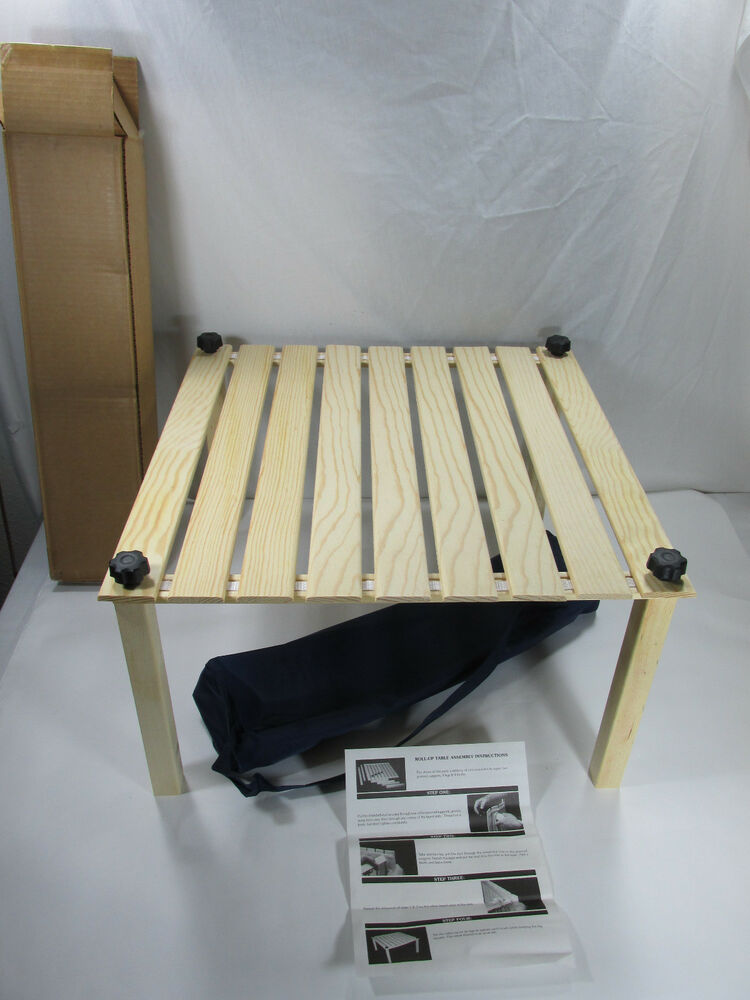 Roll Up Wooden Picnic Camping Table Outdoor Portable Beach