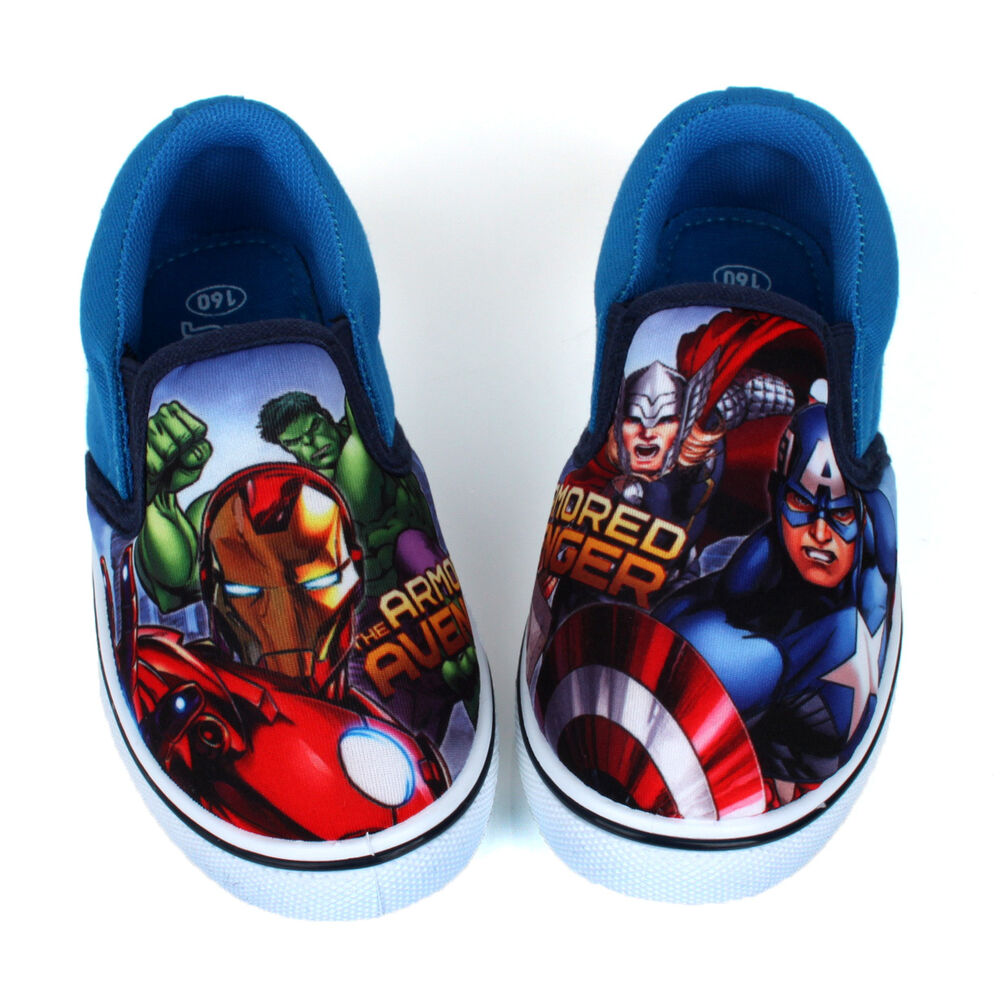 Marvel Avengers Boys Slip Shoes Casual Kids