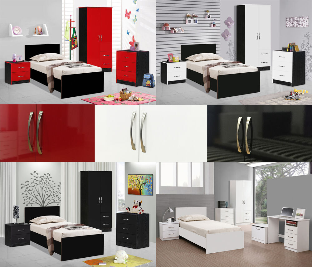 marina high gloss bedroom furniture units sets double combi