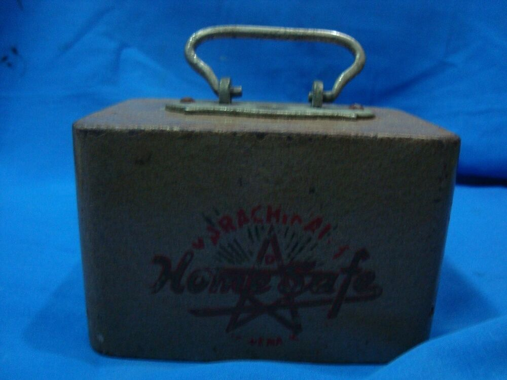 Old vintage metal karachwala home safe co money box from for Home money box