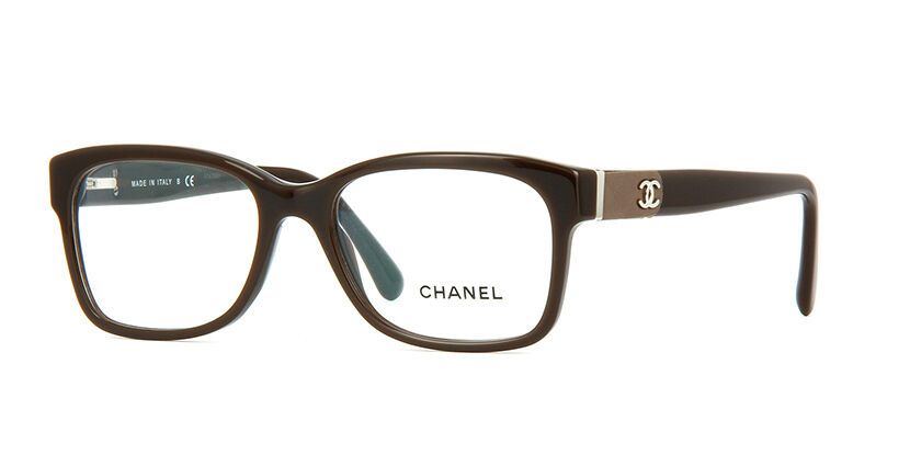 Chanel Eyeglasses Glasses 3246 Q 1276 Brown Authentic 53 ...