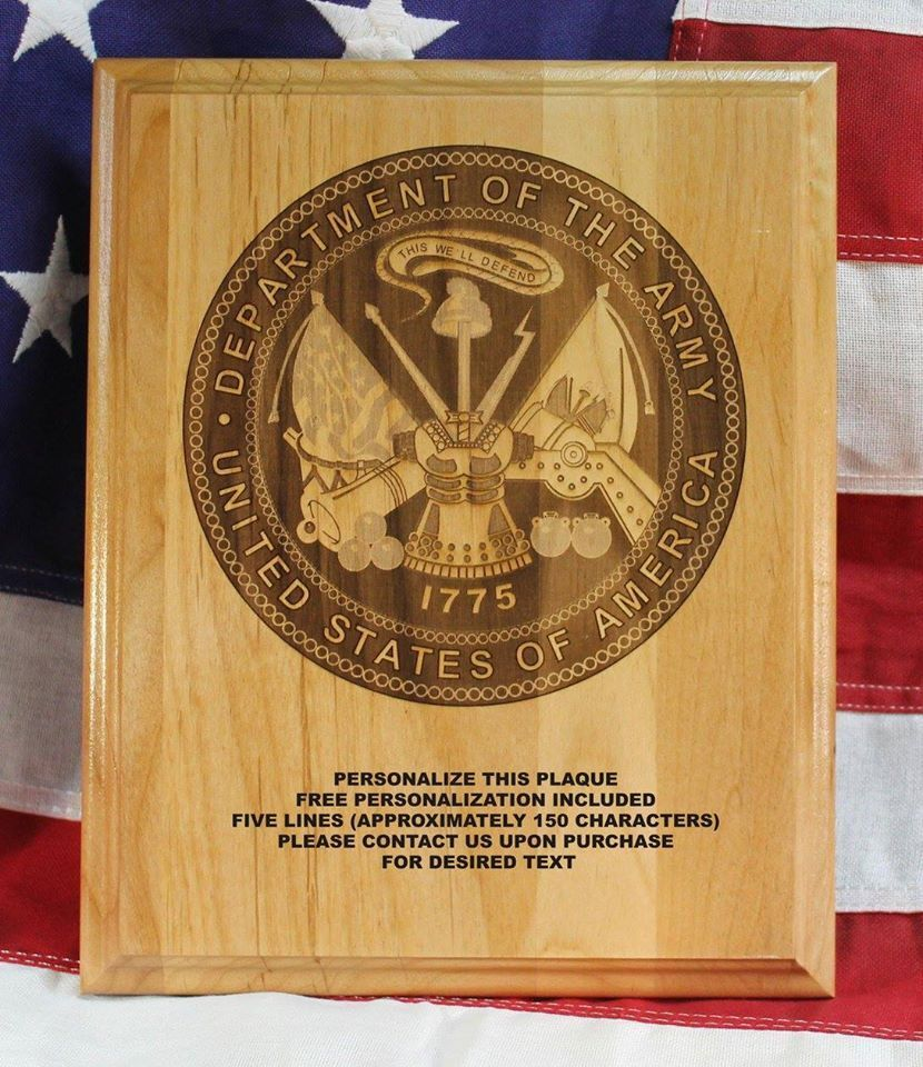 personalized us army seal plaque award military gift custom engraved 8x10 in ebay. Black Bedroom Furniture Sets. Home Design Ideas