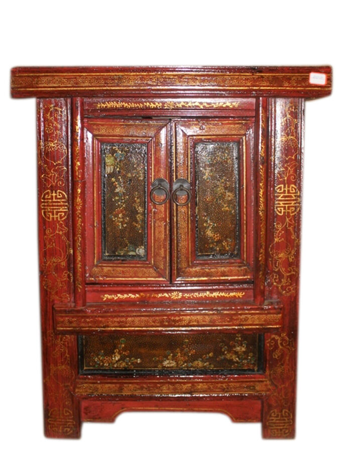 china 1880 kleine kommode mit 2 t ren nachtschrank antik ebay. Black Bedroom Furniture Sets. Home Design Ideas