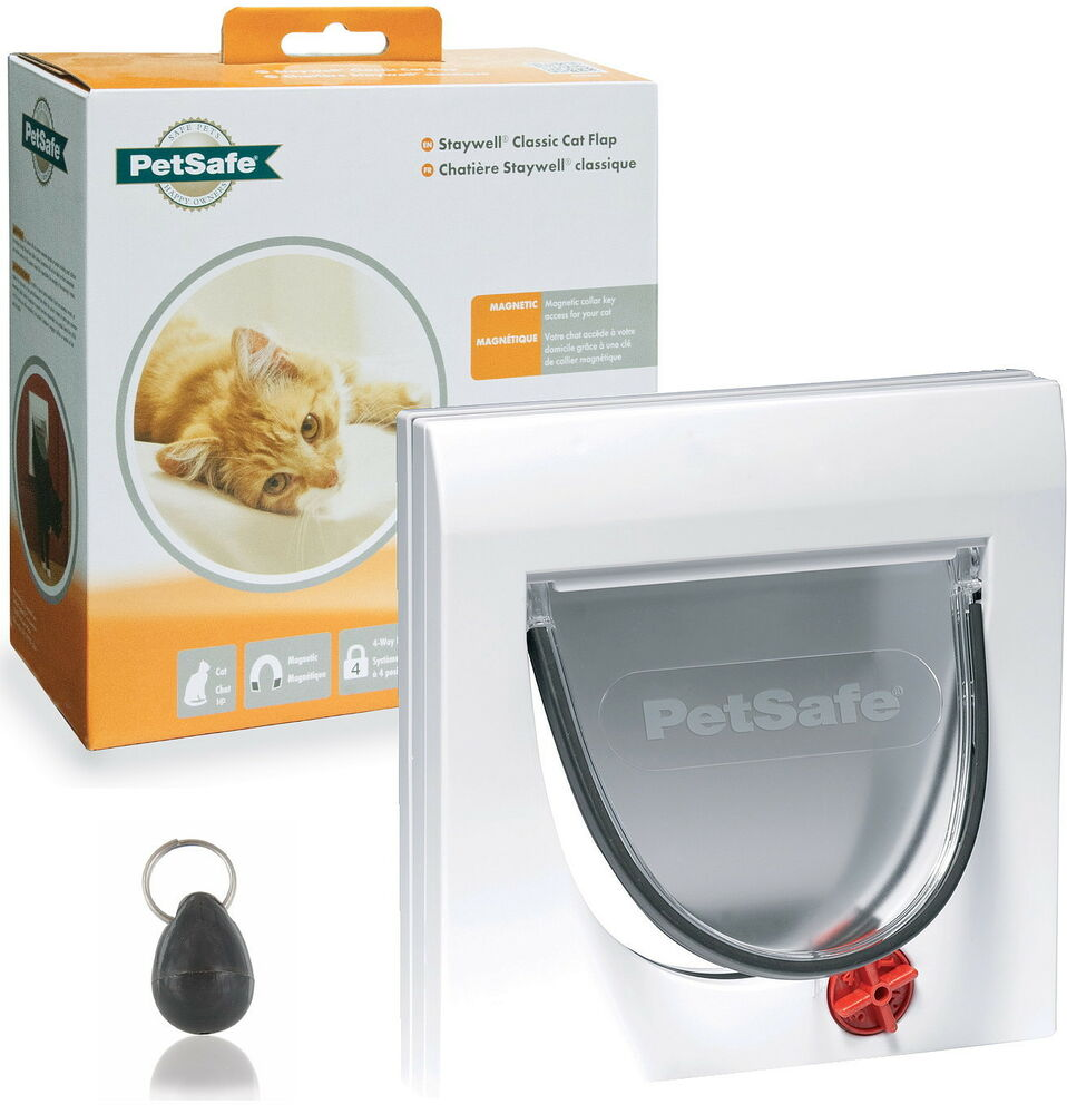 Staywell Petsafe 932 White Magnetic Cat Flap Door And Keys