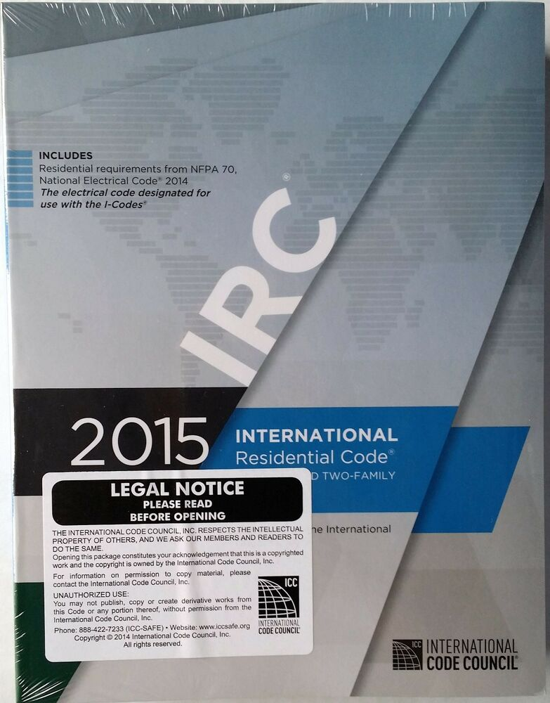 2015 International Residential Code For One And Two