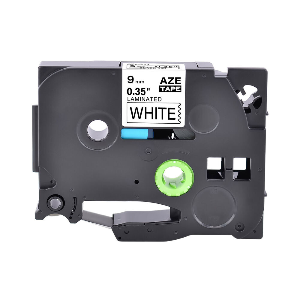 tz 221 laminated label tape for brother p touch black on white tape 9mm tze 221 ebay. Black Bedroom Furniture Sets. Home Design Ideas