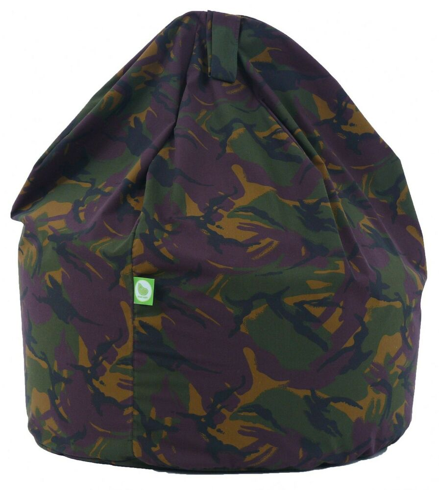 Child Size Army Camo Camouflage Bean Bag With Beans By