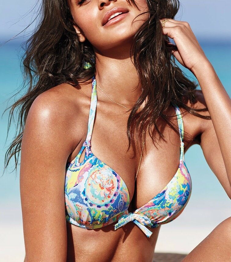 Victoria Secret Bombshell Bikini Push Up Top Adds 2 Cup ...