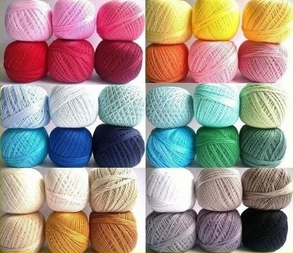 Mercerized Crochet Cotton Ball Yarn 200m 30g Embroidery Tatting Thread ...