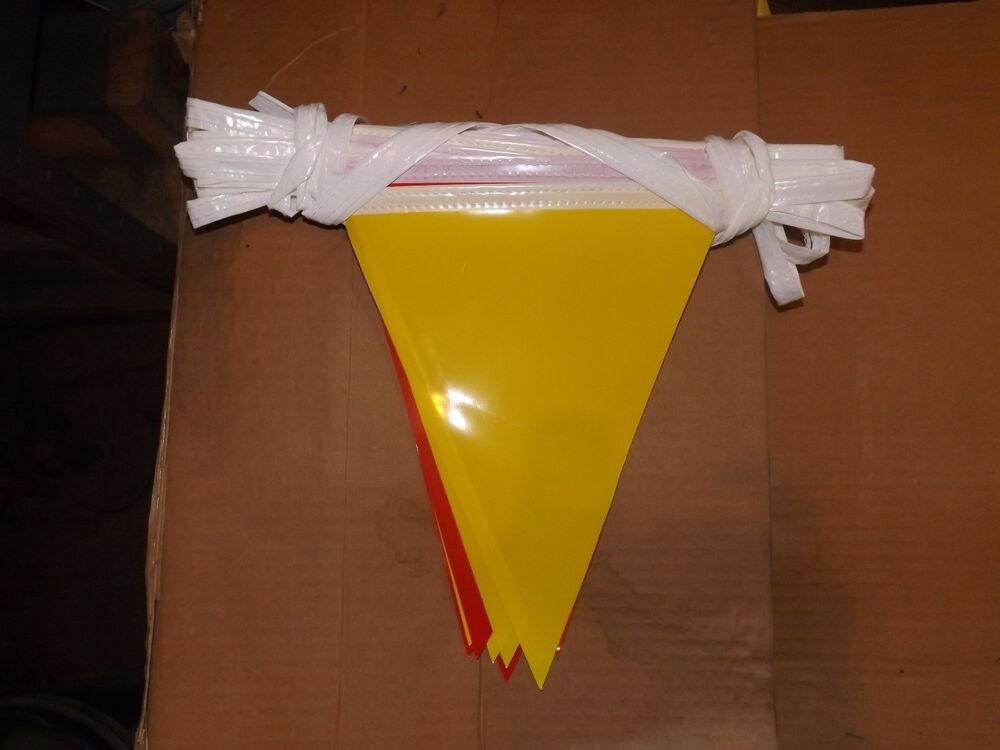 Yellow And Red Outdoor Pennants Flag Streamer Banner 43
